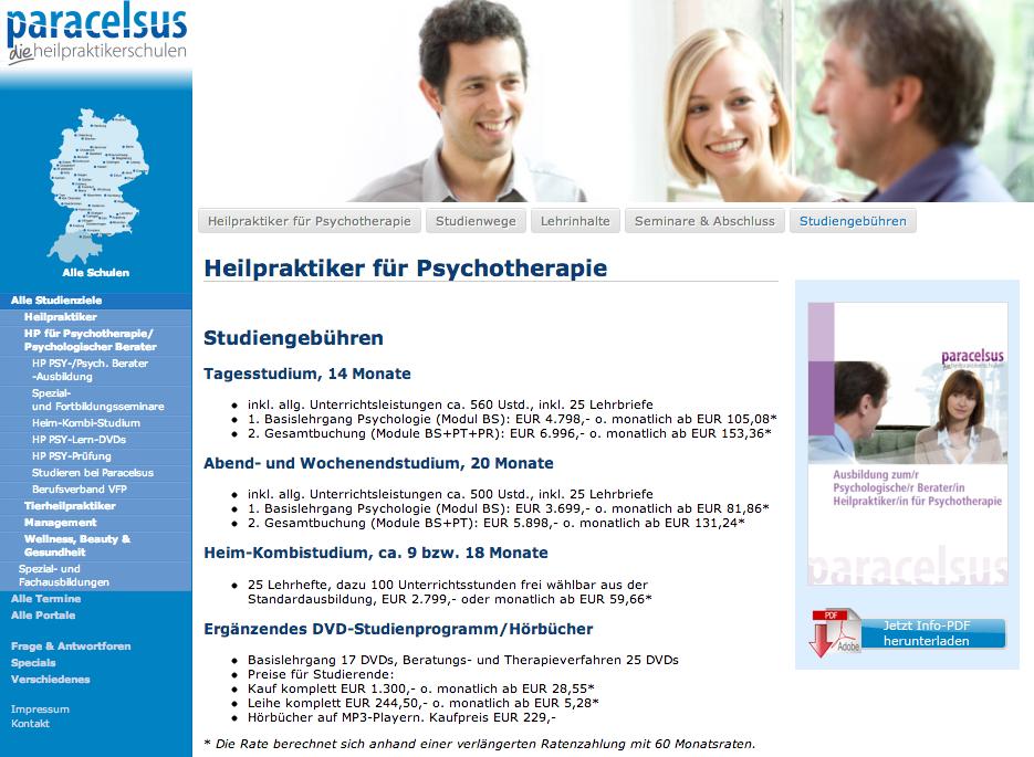 Heilpraktiker Psychotherapie